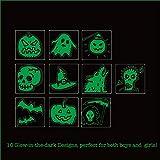 150pcs Assorted Halloween Tattoos, 26 Designs including Glow in the dark Children Tattoos Halloween Trick or Treat