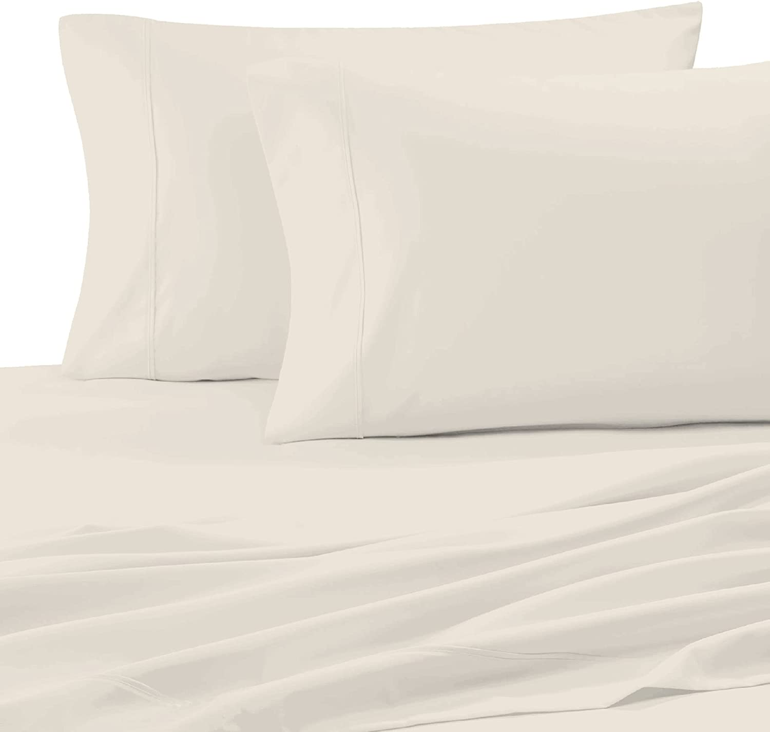 Purity Home 300 Thread Count 100% Organic Cotton Percale Weave Pillow Case Set, 2 Piece Set, Standard Size(20