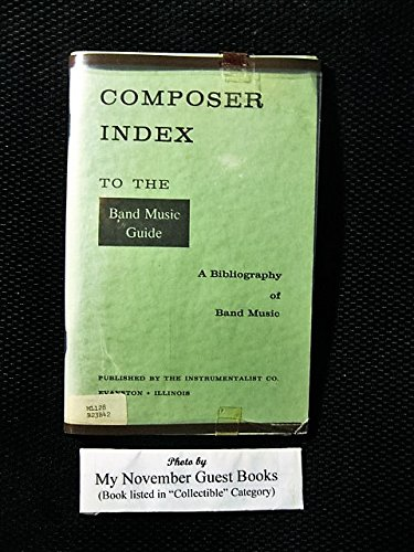 Composer Index to Band Music Guide: A Bibliography of Band ()
