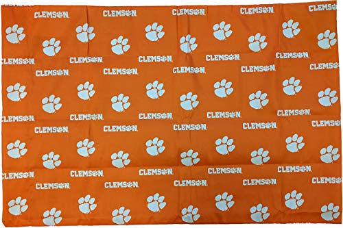 College Covers Clemson Tigers Pillowcase Pair - Solid (Includes 2 Standard Pillowcases) Clemson Tigers Ncaa College Bedding