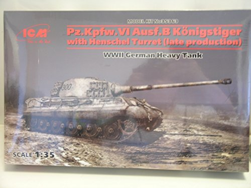 ICM Models---1/35 Scale German WW II Pz.Kpfw.VI King Tiger---Plastic Model Kit