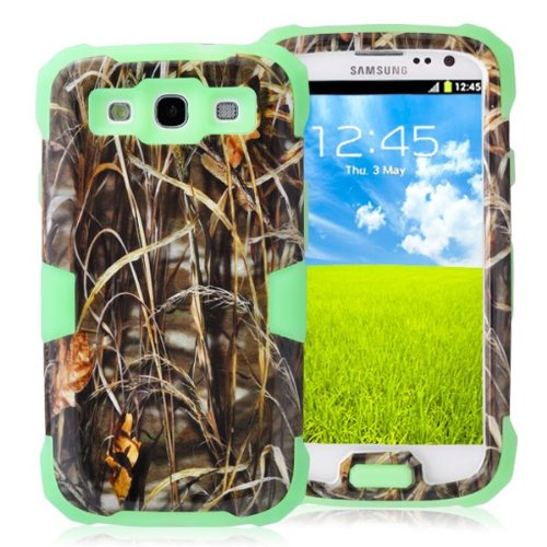 General Shop Glow in the Dark Camo Mossy OAK Tree Case Cover for Samsung Galaxy S3 III I9300 (green)
