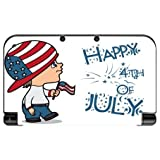 Cute Boy with American Flag Hat Happy 4th of July Quote Celebration Image Design Pattern New 3DS XL 2015 Vinyl Decal Sticker Skin by Trendy Accessories