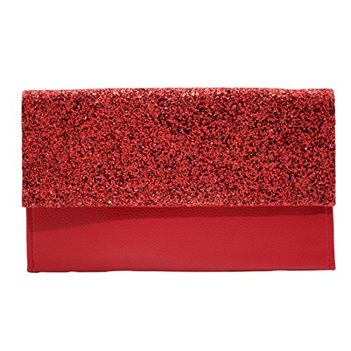 Red Bag Evening Rhinestone Clutch Handbag Frosted Clutch Purse Bag Cocktail Bridal Beaded Diamante Sequined Wedding AT46w