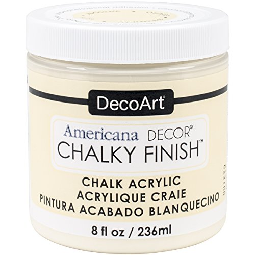 DecoArt ADC-03 Americana Chalky Finish Paint, 8-Ounce, Whisper from DecoArt