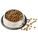 Pet Food Bowl Stainless Steel Non Skid Pet Paws