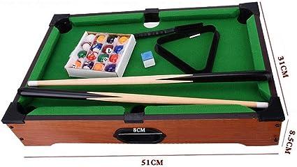 YzDnF Arcade Juegos de Mesa Creativa Mini Mesa De Billar Bola De Billar Inicio Conjuntos De Juegos Mesa De Billar For Niños (Color : Green, Size : 51x31x8.5cm): Amazon.es: Hogar