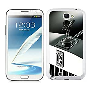 Easy Set,Fasionable Case Rolls-Royce 3 Samsung Galaxy Note 2 White Phone Case