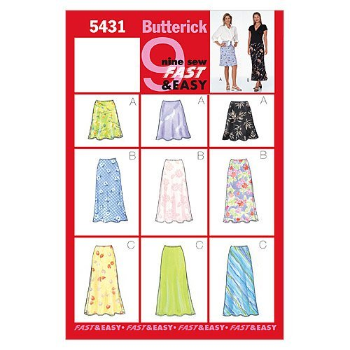 BUTTERICK PATTERNS B5431 Misses'/Misses' Petite Skirt, Size -