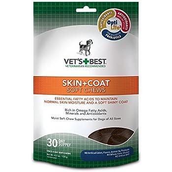 Vet's Best Skin & Coat Soft Chews Dog Supplements, 30 Day Supply