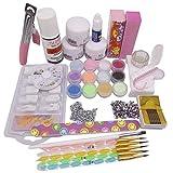 Warm Girl Acrylic Powder Liquid Nail Art Set UV Gel Glue File Brush Kits