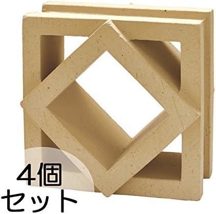 ブロック せっき質無釉ブロック ポーラスブロック200 190Bタイプ ハニワ(配筋溝あり・4本角溝) 4個セット単位 屋外壁