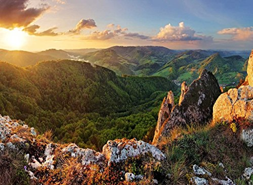 PigBangbang,20.6 X 15.1'' Premium Basswood Bright Colorful Art Pictures Jigsaw Puzzles Cartoon 500 piece Home Decoration-Slovakia Mountains Sunrises - Of Pictures Slovakia
