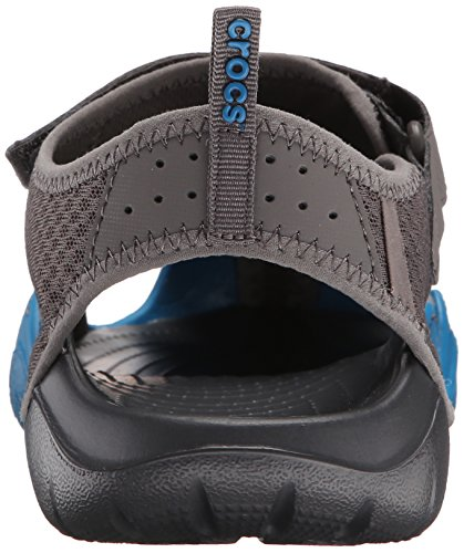 Crocs Mænds Swiftwater Mesh Sandal Grafit / Ultra Marine XwSkRcl
