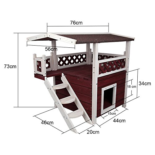 low cost petsfit maison d ext rieur pour chats g te en bois pour chat design deux tages. Black Bedroom Furniture Sets. Home Design Ideas