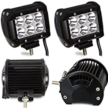 "TURBOSII Led Light Bar 4PCS 18w 4"" Spot Driving Fog Light Off Road Lights Boat Lights driving lights Led Work Light SUV Jeep Lamp,2 years Warranty"