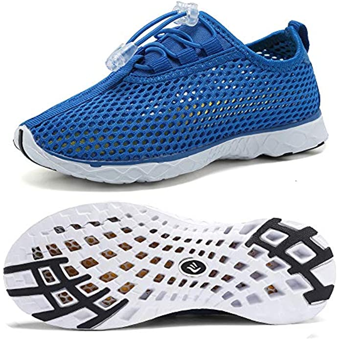 WALUCAN Boys & Girls Water Shoes Quick Drying Sports Aqua Athletic Sneakers Lightweight Sport Shoes(Toddler/Little Kid/Big Kid)