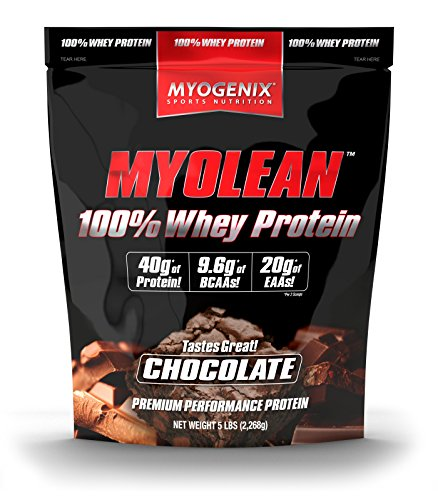 Myolean 100% Whey Protein Powder, Chocolate, 5 Myogenix Review