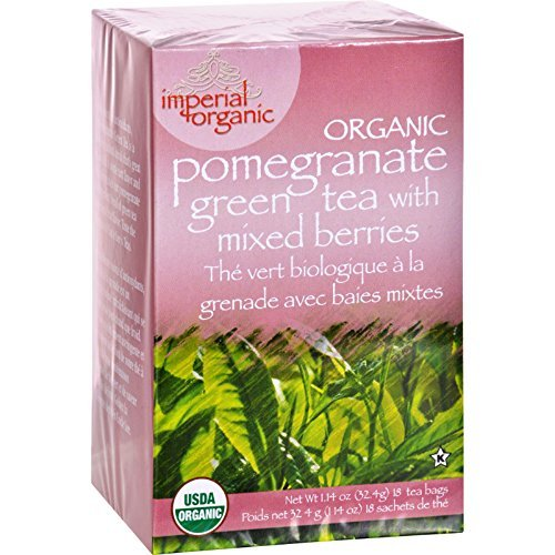 Uncle Lee s Imperial Organic Pomegranate Green Tea with Mixed Berries - 18 Tea Bags - 95%+ Organic - by Uncle Lee's Tea