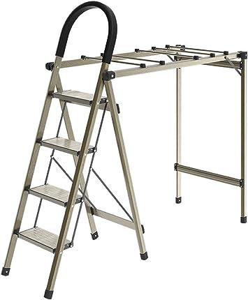 Escenas múltiples El estante plegable de aire de secado, en dos fines de cuatro pasos de escalera falda/edredón/pantalones de ropa de suspensión de chasis de escalera Estable/Familia ChenB: Amazon.es: Bricolaje y herramientas