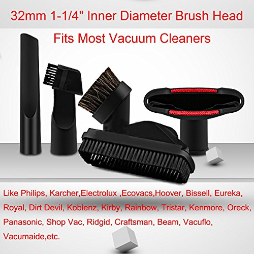 (6Pcs/Lot Vacuum Cleaner Parts Horsehair Nozzle Brush Head Adapter Kit for Hoover Bissell Eureka Royal Dirt Devil Replacement)