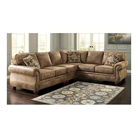 Ashley 31901-55-46-67 Larkinhurst 3-Piece Sectional Sofa with Left  sc 1 st  Amazon.com : left arm facing sectional - Sectionals, Sofas & Couches