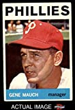 1964 Topps # 157 Gene Mauch Philadelphia Phillies (Baseball Card) Dean's Cards 4 - VG/EX Phillies