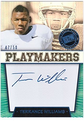 - TERRANCE WILLIAMS 2013 Press Pass Playmakers Blue Rookie Auto On Card 47/50