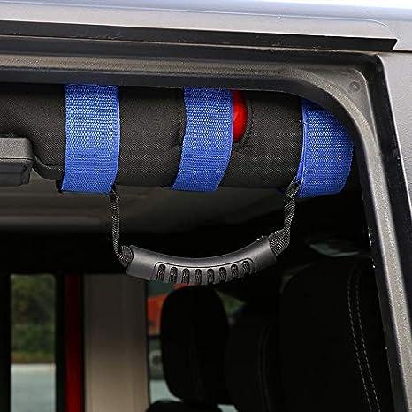Black JeCar Jeep Grab Handles s for 1995-2018 Jeep Wrangler YJ TJ JK JKU Sports Sahara Freedom Rubicon X /& Unlimited X 2//4 Door Roll Bar