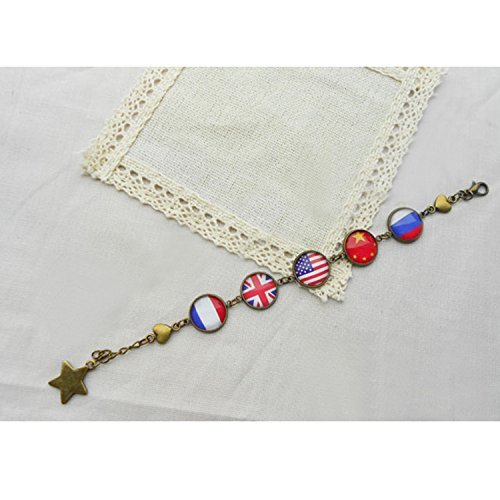 Dreamcosplay Anime Axis Powers Hetalia Five Countries Patterns Bracelet