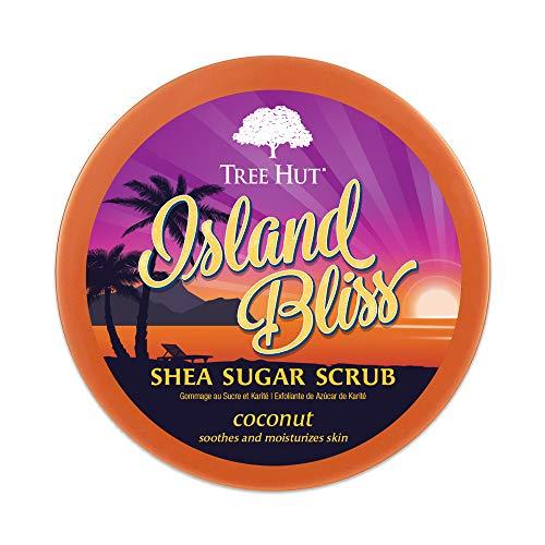 Tree Hut Island Bliss Shea Sugar Scrub, 18 oz, Ultra Hydrating and Exfoliating Scrub for Nourishing Essential Body Care