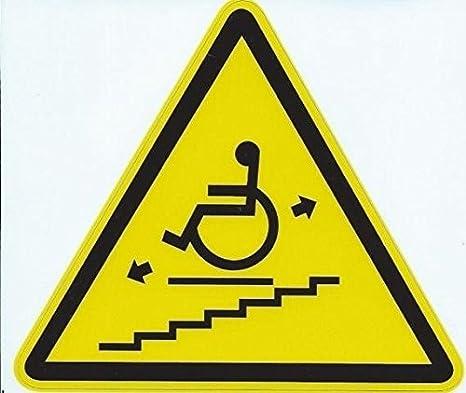 4,5 inx4in silla de ruedas elevador señal de advertencia adhesivo ventana signos calcomanías pegatinas por stickertalk®: Amazon.es: Coche y moto