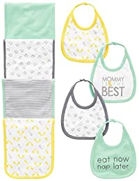 Simple Joys by Carter's Baby Gender Neutral 8-Pack Burp Cloth and Bib Set