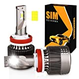 Simdevanma H11/H9/H8 LED headlight bulbs kit apply to car headlamp and fog-front (Attention model) 60W 7600LM 6500K White 1Year Warranty