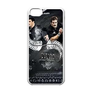 5c caso de rugby funda iPhone W1H38L1WB funda 50U8H3 blanco