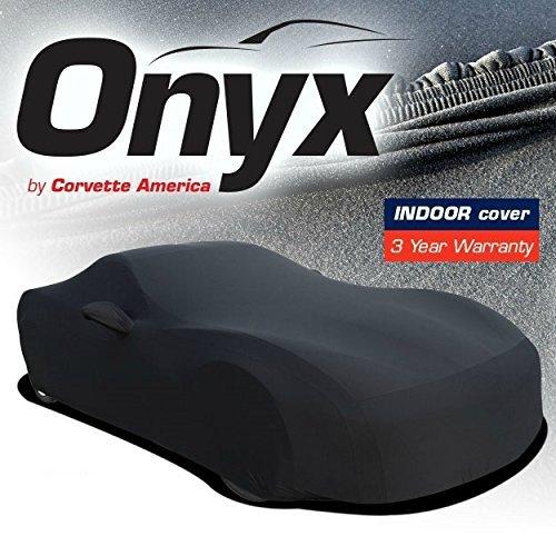 All C2 63-67 Corvettes C2 Corvette HIGH END Onyx Black Satin Custom FIT Stretch Indoor CAR Cover FITS