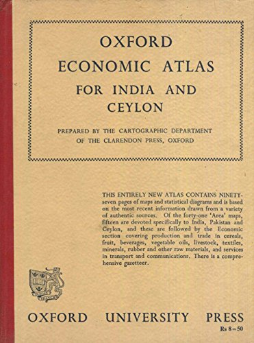 Oxford Economic Atlas for India and Ceylon. Prepared by the cartographic department of the clarendon press, Oxford.