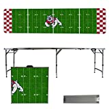 NCAA Fresno State University Bulldogs Football Field Version 8 Foot Folding Tailgate Table