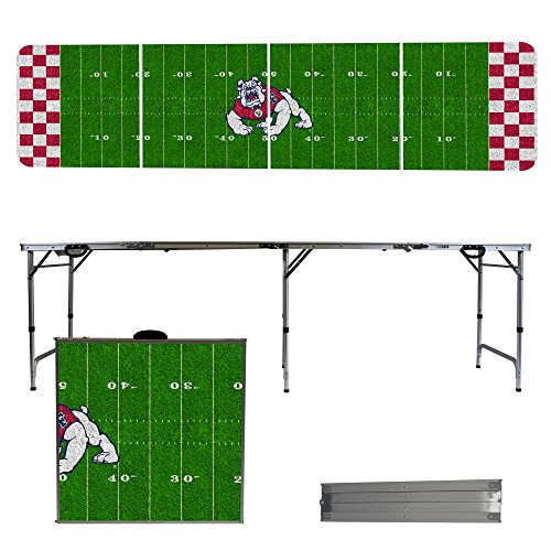 NCAA Fresno State University Bulldogs Football Field Version 8 Foot Folding Tailgate Table by Victory Tailgate