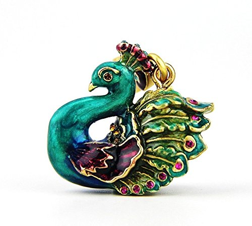 Jay Strongwater Lillian Peacock Charm 18k Gold Plated Swarovski Crystals Brand New Box by Unknown (Image #4)