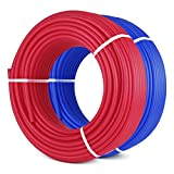 Mophorn Pex Tubing O2 Oxygen Barrier Radiant Floor Heat Pex 2 Rolls of 1/2 Inch 300ft Potable Water Tubing for Residential and Commercial Water Plumbing Application Red and Blue (2 X 300ft)