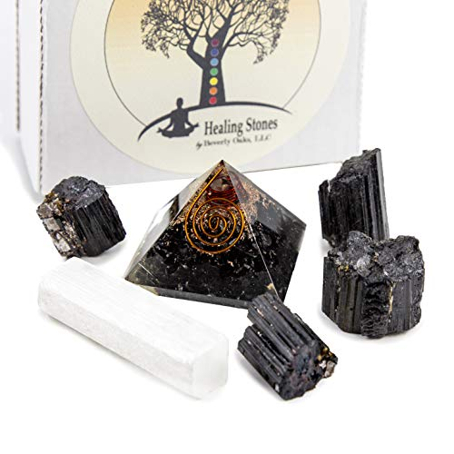 Beverly Oaks Charged Black Tourmaline Crystal Complete Kit - Tourmaline  Stone for EMF Protection and Grounding (Essentials)