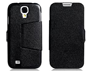 Textured Faux Leather Flip Case with Stand for Samsung Galaxy S4/ I9500 (Black)
