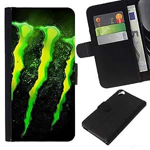 NEECELL GIFT forCITY // Billetera de cuero Caso Cubierta de protección Carcasa / Leather Wallet Case for HTC Desire 820 // MONSTER
