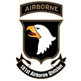 US Army - 101st Airborne Division Patch Decal - 3.5 Inch Tall Full Color Decal, Sticker