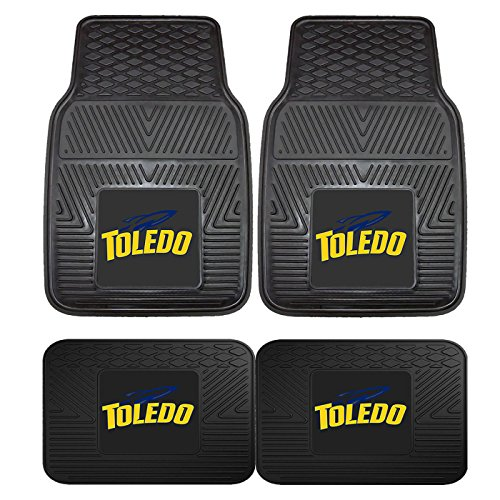Toledo Rockets Car Mats (Licensed NCAA Toledo Rockets Vinyl Floor Mats Universal New)