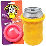 Candom Can Cooler Gag Gift (2 Pack) | Rolls on to a can like a giant condom to keep your beverage cold | Candoms are funny gag gifts for a birthday, bachelor or bachelorette party | Reusable