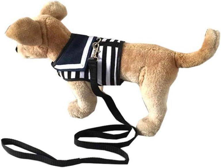 ZJIAWEI 犬チェストストラップ、中小犬のウォーキングやハイキングのためのストライプトラクションロープ、家庭用ペットトラクションロープ、戦術的な犬の鎖、調節可能なロープ犬の鎖、 セキュリティ (Color : Red, Size : M)