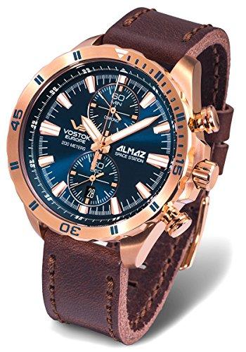 Vostok-Europe Almaz Two-Eye Quartz Chronograph with 60-Minute Stopwatch 320B262