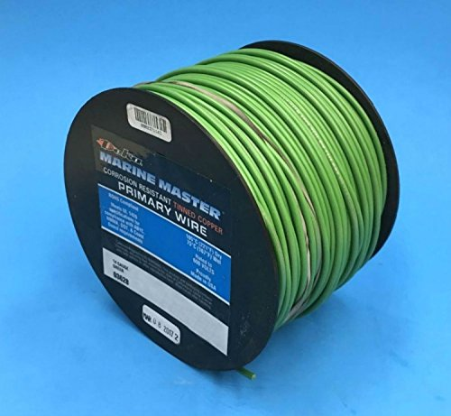 DEKA 14AWG GREEN Marine Tinned Copper Boat Stranded Wire 100 Feet Made in USA